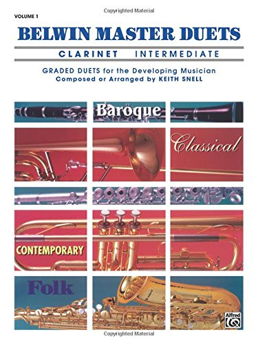 Belwin Master Duets: Clarinet Intermediate Vol. 1