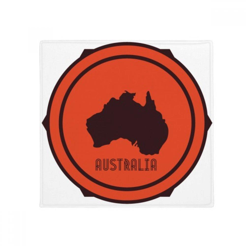 DIYthinker Australia Flavor Map Emblem Illustration Anti-Slip Floor Pet Mat Square Home Kitchen Door 80Cm Gift