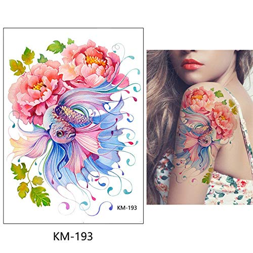 eb914a658 Generic 1x DIY Body Art Temporary Tattoo Colorful Animals Watercolor  Painting Drawing Horse Butterfly Decal Waterproof