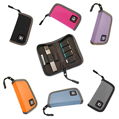 Carrying Case Wallet Holder for JUUL and Other Popular Vapes | Holds Vape, Pods and Charger | Fits in Pockets or Bags (Device Not - Custom Places Spinner Cover Card