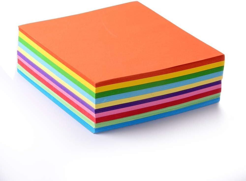 NvWang Origami,Papel Origami 100 Hojas 15 x 15 cm Doble Cara Papel para papiroflexia,para Folded Square Origami Manualidades y DIY Proyectos de Artes