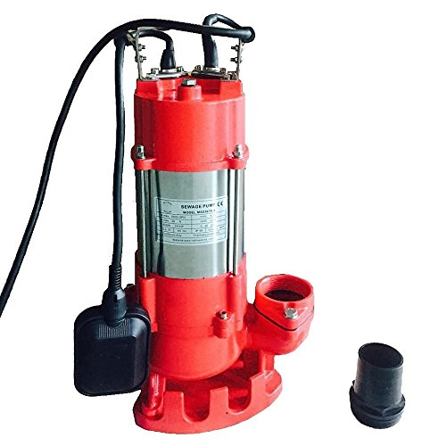 Hallmark Industries MA0387X-8 Sewage Pump with Float Switch, 5600 gpm, Stainless Steel, Heavy Duty, 3/4 hp, 115V, 38' Lift, 20' Cable by Hallmark Industries (Image #4)