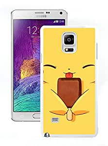 Pokemon Popular Cute and Funny Pikachu 02 White Individual Custom Samsung Galaxy Note 4 Case
