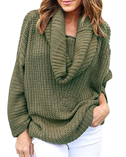 oversized cowl neck pullover - 1