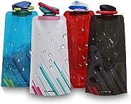 CoWalkers Botellas de Agua Plegables para el Medio Ambiente Botella de Agua Plegable Hidromasaje portátil para