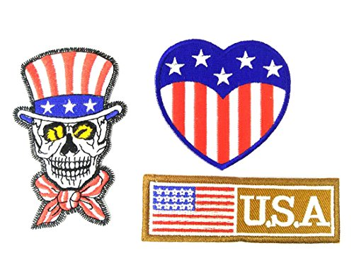Queen Be Be American Skull Heart USA Flag