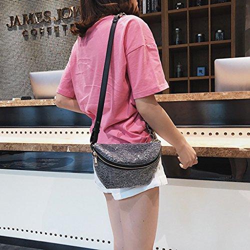 Color 14x1x14cm para Lentejuelas Approx Rosa 51x0 Negro Lamdoo 5 Bolsas para con 51 Pecho Caqui el 39x5 Mujer qwxP5U48