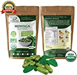 Moringa Oleifera Leaf Powder Organic (60) Capsules Non GMO multivitamin for metabolism, protein, energy & mood boost – vegans & vegetarians – 90 nutrients, iron & amino acids supplements Review