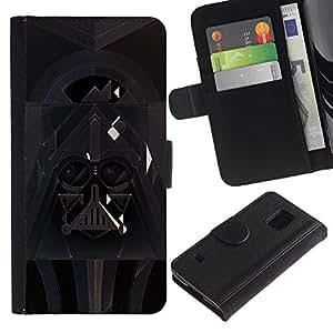 ARTCO Cases - Samsung Galaxy S5 V SM-G900 - Star Galaxy Darth Art - Cuero PU Delgado caso Billetera cubierta Shell Armor Funda Case Cover Wallet Credit Card