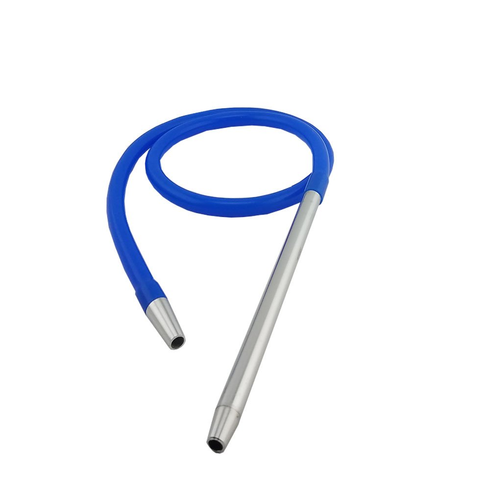Hookah Shisha 27'' Tall Screw In With Travel Case Included - Second Hose Adapter Included (second hose not included) - Free Mouth Tips and Quick Light Charcoal - Premium Glass Hookah Pen (Blue) by Coco-Flame (Image #3)
