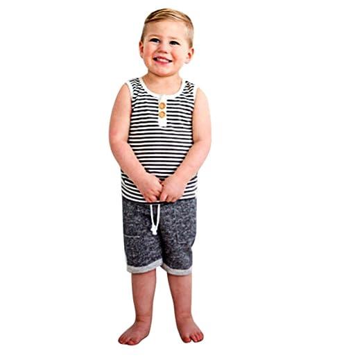 56e61f739309 Winsummer Toddler Baby Boys Summer Shorts Outfits Sleeveless Beaches Tank  Tops Harem Pants Hawaiian Clothes Set