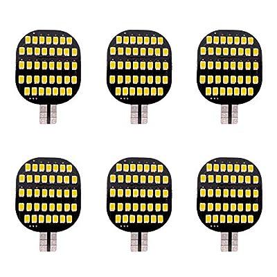GRV T10 921 194 C921 LED Light Bulb 38-2835 SMD Super Bright Lamp DC12V 13V 2.5Watt for Car Boat RV Trailer Camper Motorhome Ceiling Dome Interior Lights Warm White Pack of 6: Automotive