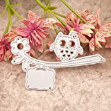 Owl Metal Cutting Dies for Card Making, NOMSOCR Cut Die Metal Stencil Template Mould for DIY Scrapbook Embossing Album Paper Card Craft Birthday Festival Decoration (owl)