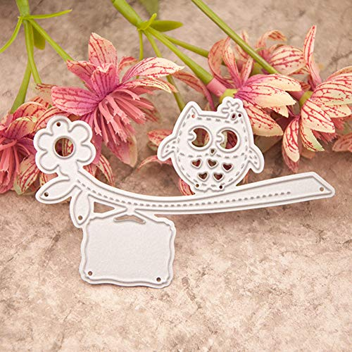 Dies Cut for Card Making, BREAORTION Owl Metal Embossing Cutting Dies Stencil Template Mould for DIY Craft Scrapbooking Paper Photo Album Decoration (Owl)]()