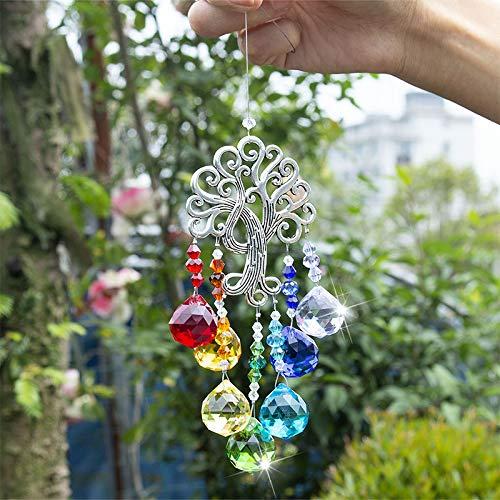 Ruluti 1pc Makers Arc Suncatchers Cristal Fantastique Cacther pour Fen/êTre Ornement Chakra Pendant D/éCoration De No/ëL Arbre De La Vie