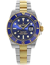 Submariner 116613 Blue Dial 18K Yellow Gold & Steel Watch 2014 B/P (Certified Pre-owned)