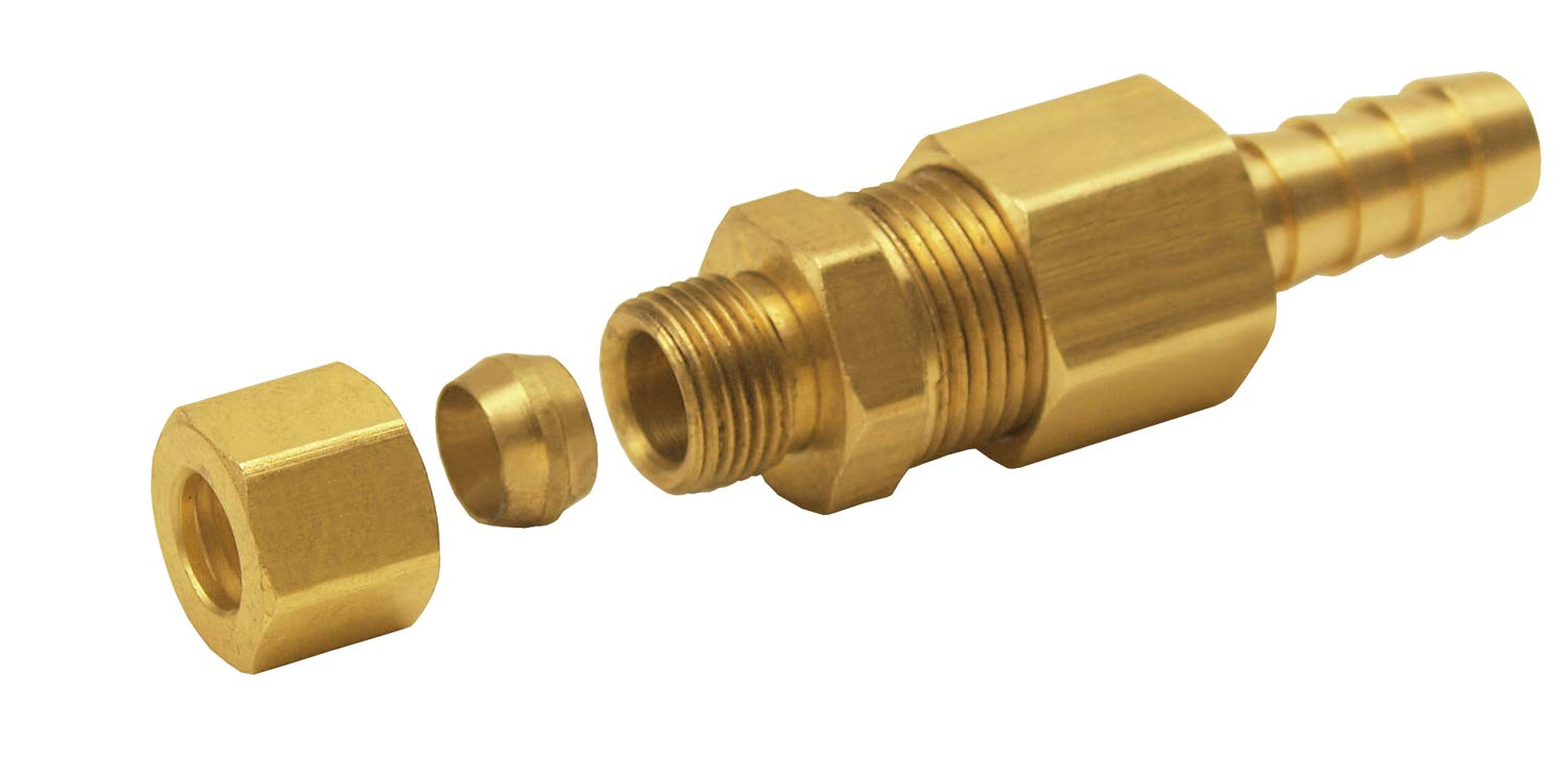 "Derale 13031 5/16"" Cooler line to 3/8"" NPT Hose Barb Universal Transmission Line Fitting"