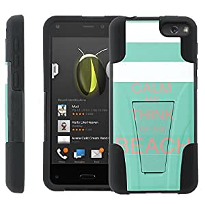 [ManiaGear] Rugged Armor-Stand Design Image Protect Case (KC Think Of The Beach) for Amazon Fire Phone