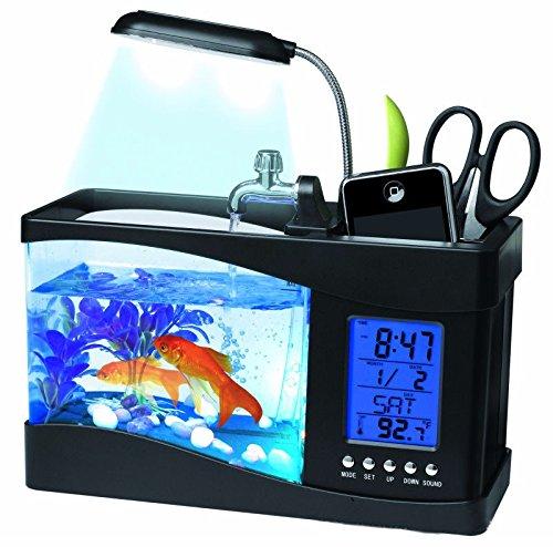 Kleines Aquarium Acryl kreative USB Mini Eco desktop Goldfischglas Neuheitgeschenk