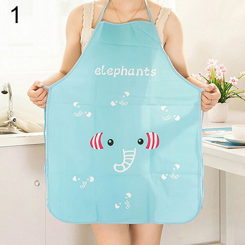 [NEWWomen Cute Cartoon Waterproof Apron Kitchen Restaurant Cooking Bib Aprons (Pattern: Elephant)] (Farmer Girl Costume Images)