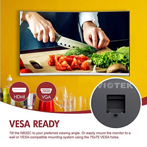 09ea2049d5c2 VIOTEK NB32CW 32-Inch LED Curved Professional Monitor, Bezel-Less Samsung  VA Panel