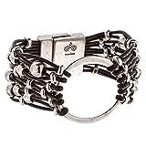 Trades by Haim Shahar Lota Leather Bracelet magnetic clasp handmade in Spain