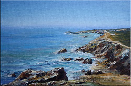 Bild Landschaft Am Meer Bretagne Modern Malerei Kunst Original Acryl