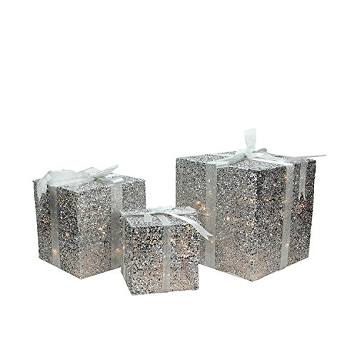 Outdoor Lighted Gift Box Decorations in US - 6