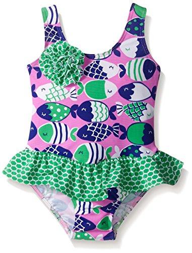 Flap Happy Little Girls UPF 50+ Serena Contrast Swimsuit ...