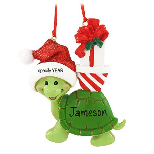 Kurt Adler Turtle Christmas Ornament for Personalization