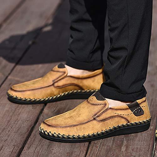 Mocassini da per Barca Pantofole Mocassini Marrone Scarpette Scarpe Pelle On da Casual da Uomo Passeggio da Slip Guida in qrFrBt