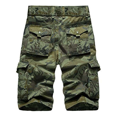 d7511e1d4c89 Amazon.com  vermers Clearance Sale Men s Casual Cargo Shorts Camouflage  Outdoors Pocket Beach Work Trousers Short Pants  Clothing