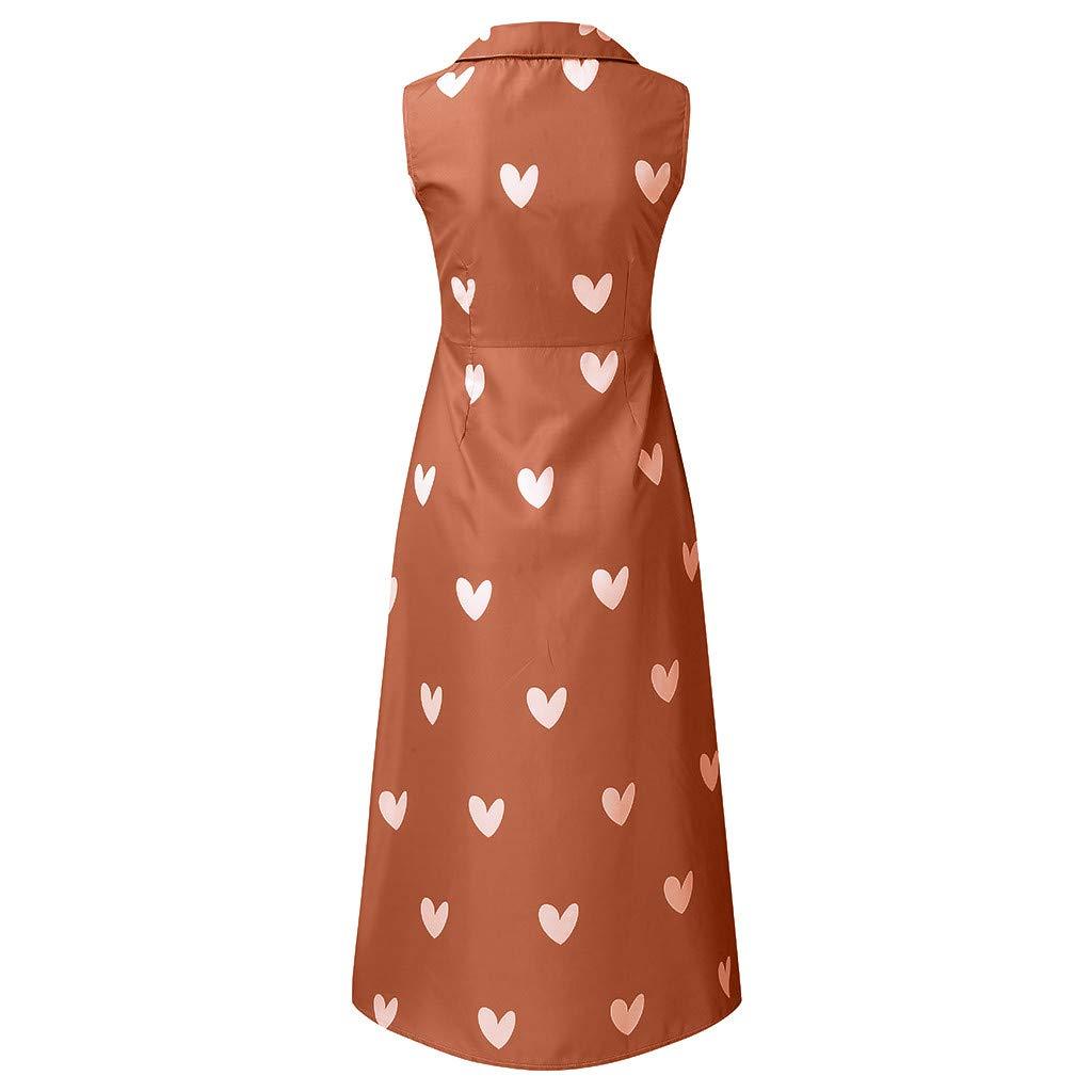 VEMOW Vestido Mujer Faldas Blusas Informal de Verano de Mujer con ...