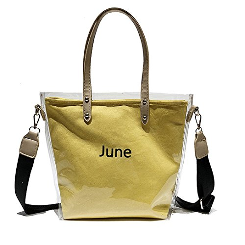 Sling Jelly Bag Large For Cross bag Yellow Transparent Beach Purse PVC Body Waterproof Clear bag Summer HPASS Ladies w4IAHI