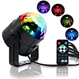 RECHING Crystal Magic Rotating Ball 2nd Generation Effect Led Stage Lights 7 Color Changing 3W RGB For KTV Lighting Xmas Party Wedding Show Club Pub Disco DJ Lighting(RGB 3W)
