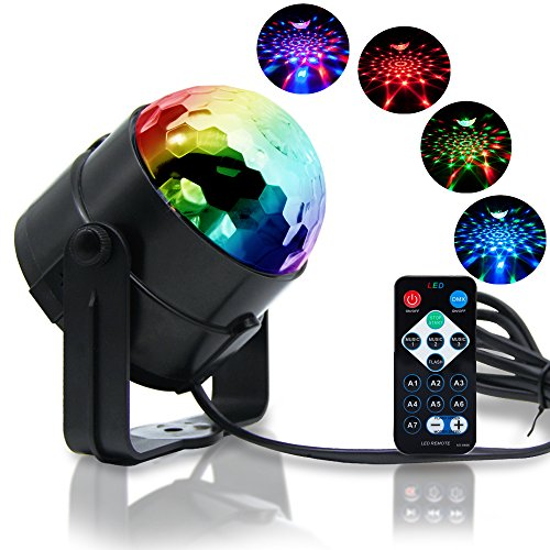 Reching Disco Light Crystal Magic Rotating Ball 2nd Generation Effect Led Stage Lights 7 Color Changing 3W RGB For KTV Lighting Xmas Party Wedding Show Club Pub Disco DJ Lighting - Led Disco Lighting Effect