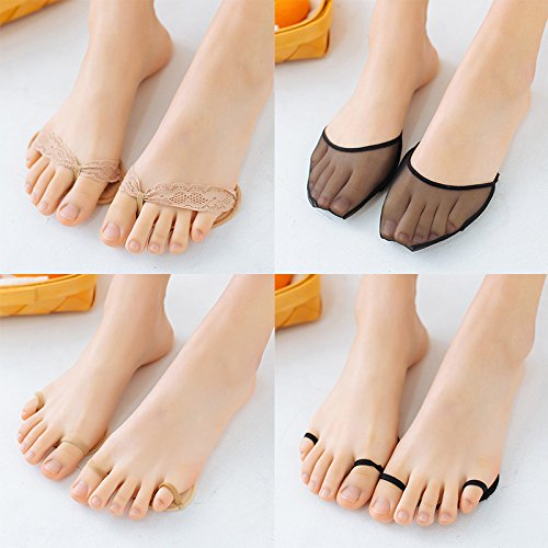 Half Insoles Pads High Heels Socks Pad Super Stealth Summer Slip Stealth Boat Forefoot Socks