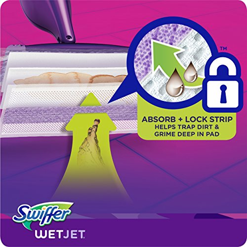 Swiffer Wetjet Hardwood Mop Pad Refills for Floor Mopping and Cleaning, All Purpose Multi Surface Floor Cleaning Product, 17 Count
