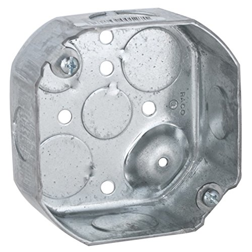 Hubbell-Raco 127 1-1/2-Inch Deep 1/2-Inch and 3/4-Inch Side Knockouts 4-Inch Octagon Box ()
