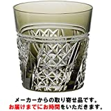 カガミクリスタル 江戸切子 冷酒杯(斜縞に麻の葉紋) 120cc