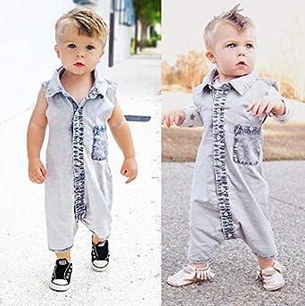 Fiomva Infant Newborn Baby Boy Girl Clothes Cotton Bodysuit Romper Jumpsuit Sunsuit Outfits Clothing