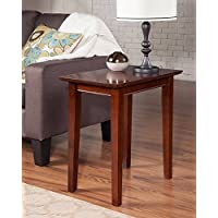 Atlantic Furniture AH13104 Shaker Side Table Rubber Wood, Walnut