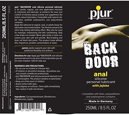 pjur BACK DOOR Relaxing Silicone Anal Glide - Lubricante anal de ...