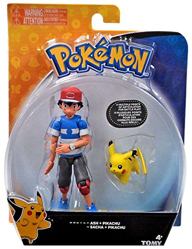 Pokemon Ash & Pikachu Action Figure [Striped Shirt] Pokemon Ash Pikachu