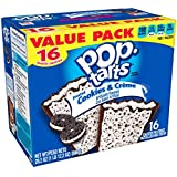 Pop-Tarts Breakfast Toaster Pastries, Frosted Cookies and Creme Flavored, Value Pack, 28.8 oz (16 Count)