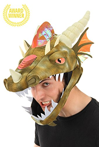 Dragon Costumes For Adults (Dragon Jawesome Hat by elope)
