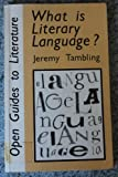 What Is Literary Language? 9780335090150