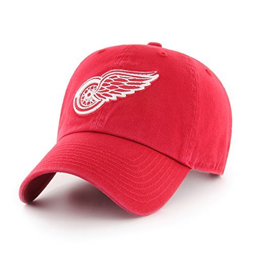 Ots Nhl Detroit Red Wings Challenger Clean Up Adjustable Hat  Red  One Size