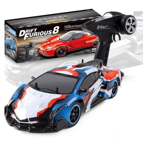 IBalody 40 KM STD Professionelle Erwachsene Sport RC Drift Auto High Speed  llradantrieb Fernbedienung Auto Lade Boy Geburtstag Spielzeug für Kinder 8 + Blau-a 1-Battery