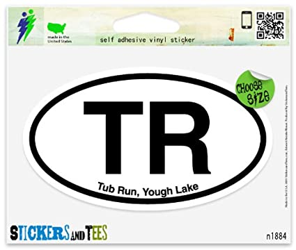 """LOW Lake of the Woods Oval car window bumper sticker decal 5/"""" x 3/"""""""